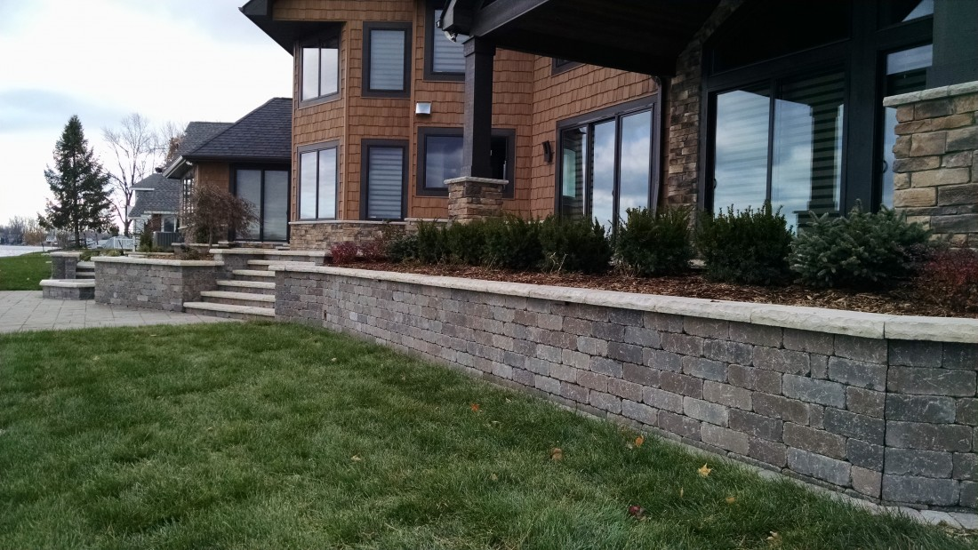Retaining Wall Installation Ann Arbor Mi Hardscape Solutions